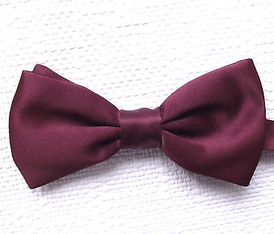 British bow tie Burgundy Fits collar sizes 11 12 13 14 15 16 17 18 inch Washable